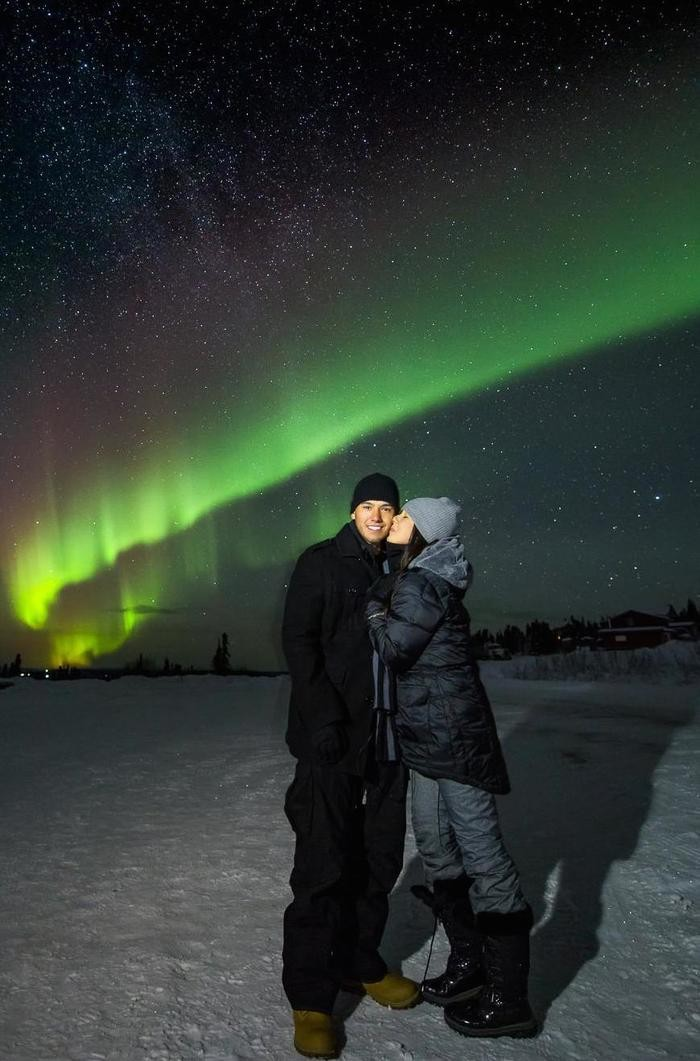 Image 2 of Alyssa and K Sean's Proposal Under the Northern Lights