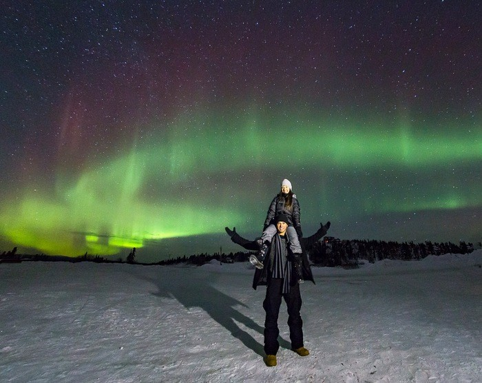 Image 1 of Alyssa and K Sean's Proposal Under the Northern Lights