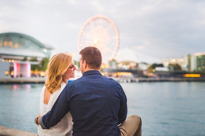 Image 1 of Blake and Malorie's Chicago Proposal