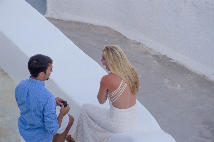 Image 6 of Bruno and Bryannah's Proposal in Santorini