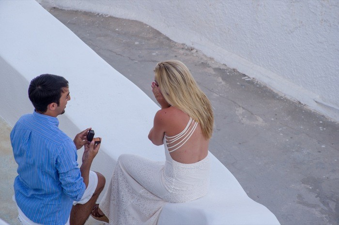 Image 3 of Bruno and Bryannah's Proposal in Santorini