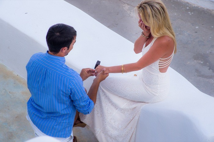 Image 4 of Bruno and Bryannah's Proposal in Santorini
