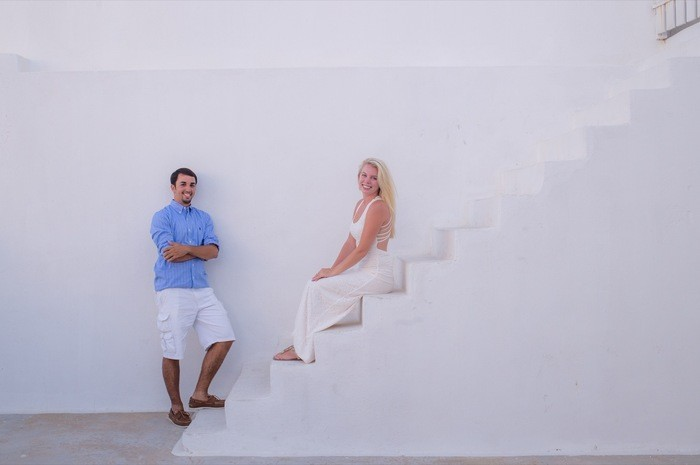 Image 1 of Bruno and Bryannah's Proposal in Santorini
