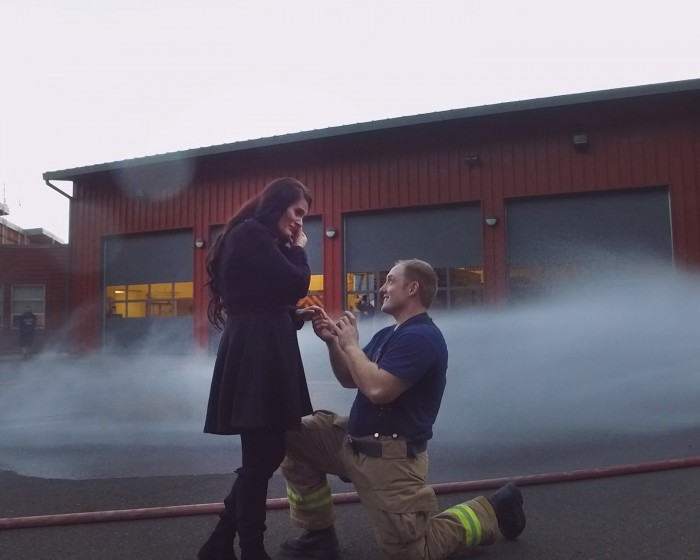 Watch This Firefighters Tear Jerking Proposal
