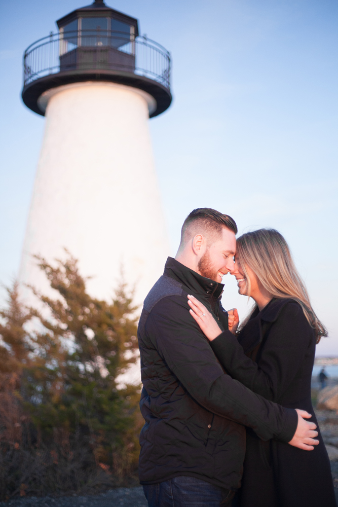Beautiful Sunset Proposal at Ned Point Light in Mattapoisett, MA