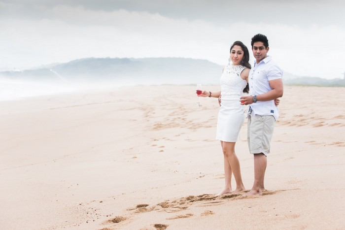Image 1 of Sue and Shival's Romantic Beach Proposal