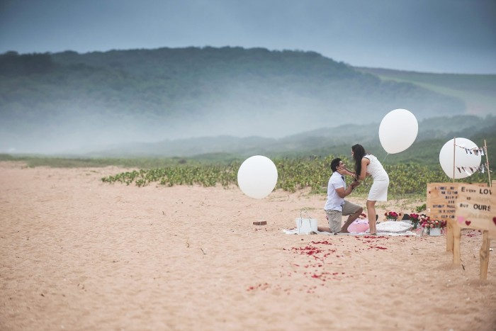 Image 8 of Sue and Shival's Romantic Beach Proposal