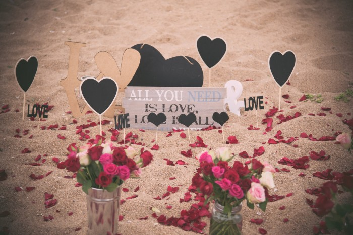 Image 3 of Sue and Shival's Romantic Beach Proposal