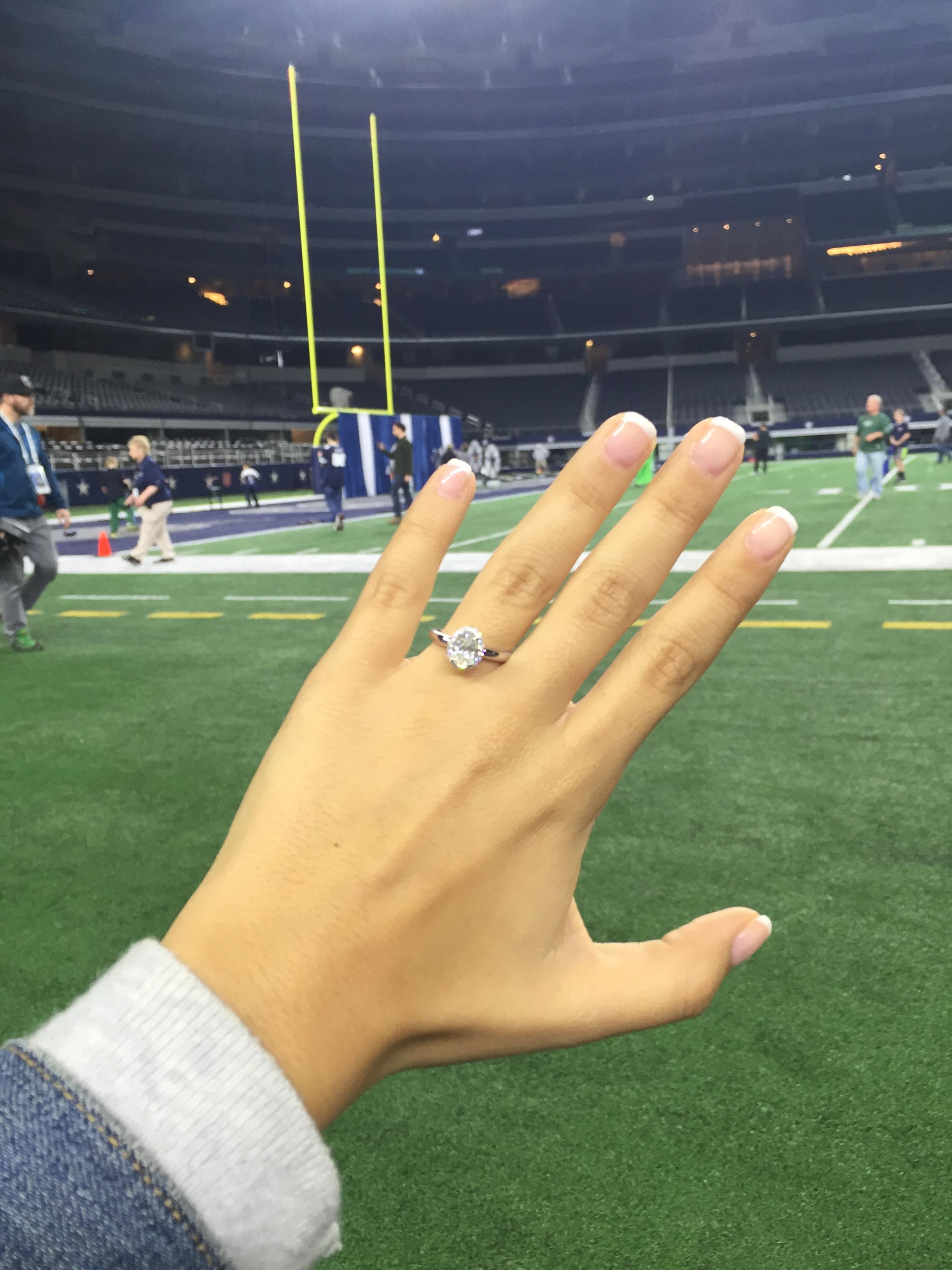 Proposal at the Dallas Cowboys Stadium 1