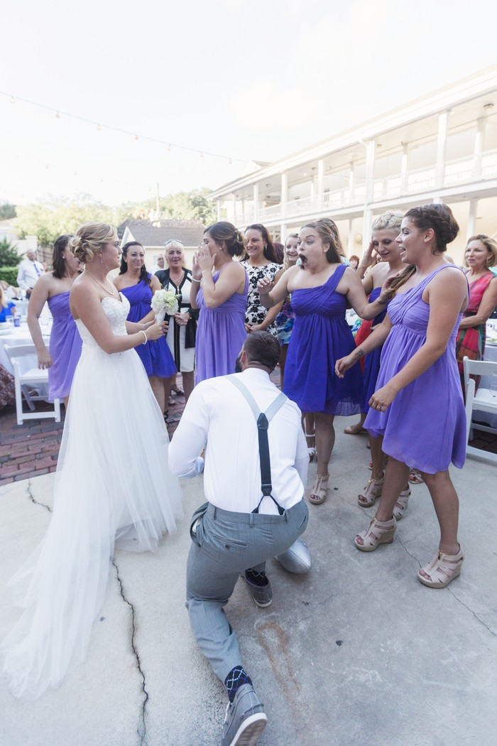 Image 5 of Bride Helps Her Maid of Honor Get Engaged at Her Own Wedding