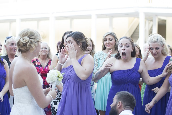 Image 6 of Bride Helps Her Maid of Honor Get Engaged at Her Own Wedding