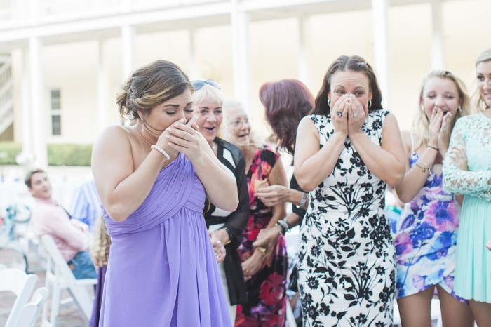 Image 7 of Bride Helps Her Maid of Honor Get Engaged at Her Own Wedding