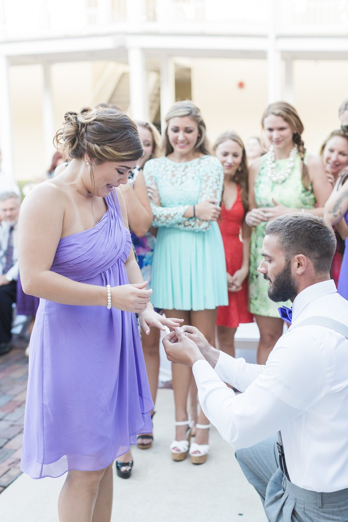 Image 9 of Bride Helps Her Maid of Honor Get Engaged at Her Own Wedding