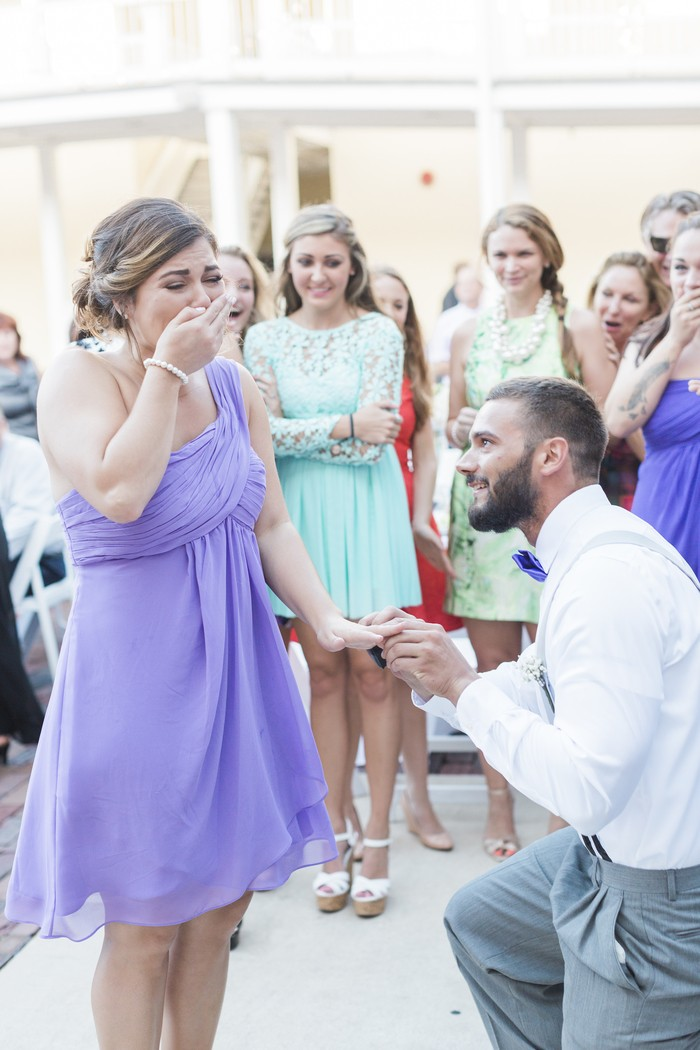 Image 10 of Bride Helps Her Maid of Honor Get Engaged at Her Own Wedding