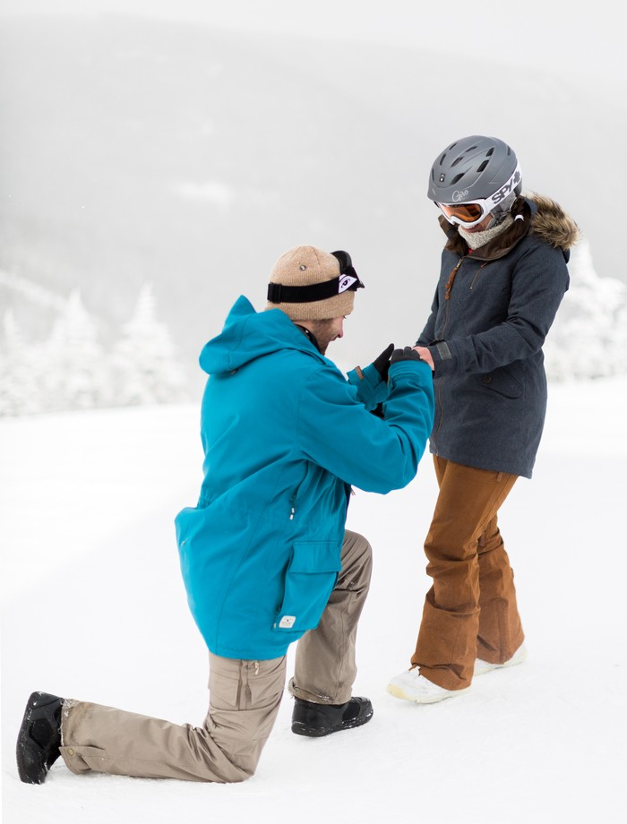 Image 9 of Joelle and Alex's Amazing Proposal on The Slopes