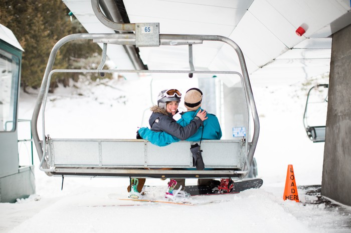 Image 2 of Joelle and Alex's Amazing Proposal on The Slopes