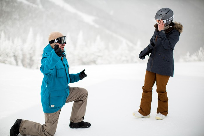 Image 6 of Joelle and Alex's Amazing Proposal on The Slopes