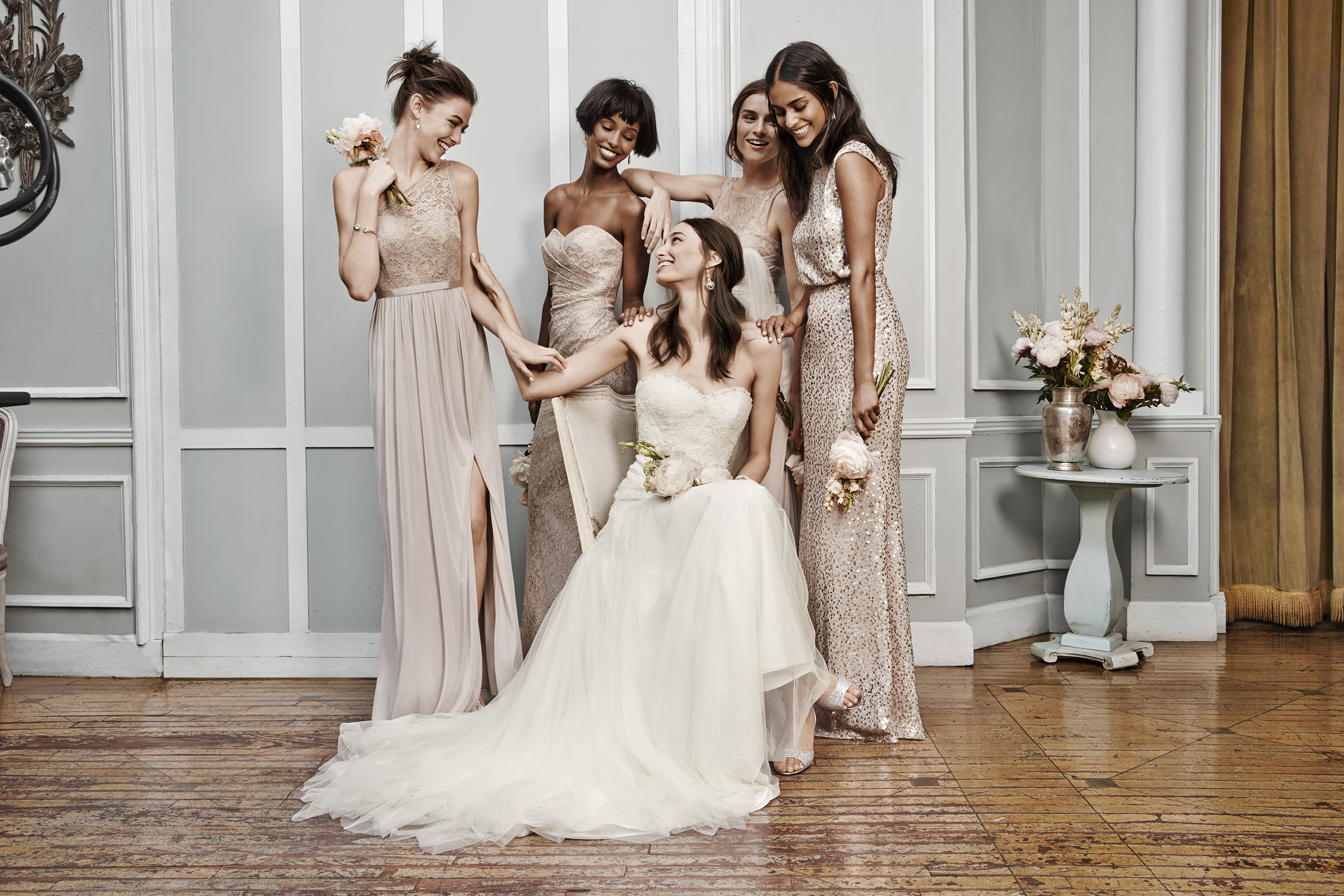 Here they are 2016s top bridesmaid dress trends metallic ombrellifo Images