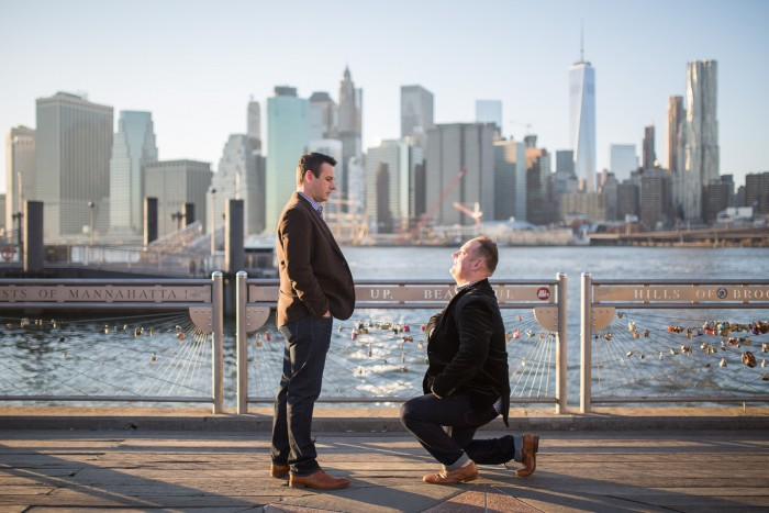Image 5 of Aaron and Brandon's Proposal in NYC