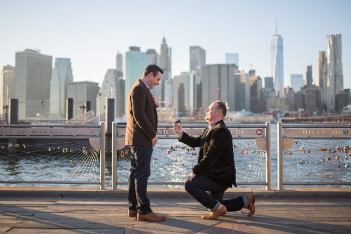 Image 7 of Aaron and Brandon's Proposal in NYC