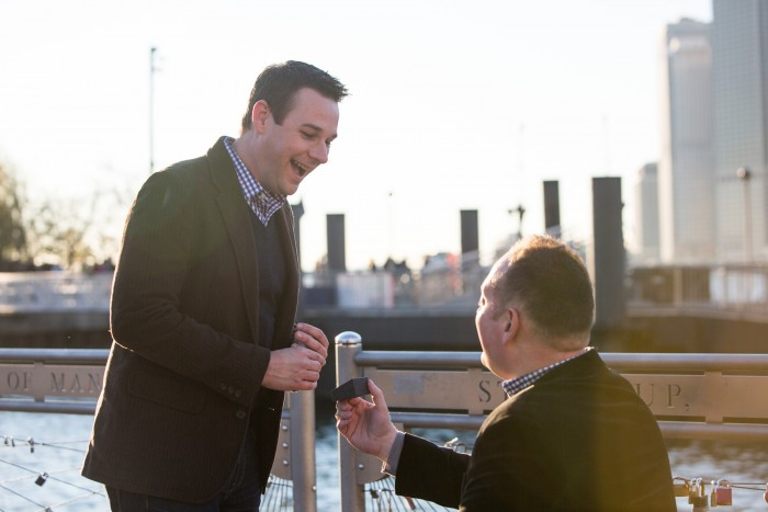 Image 8 of Aaron and Brandon's Proposal in NYC