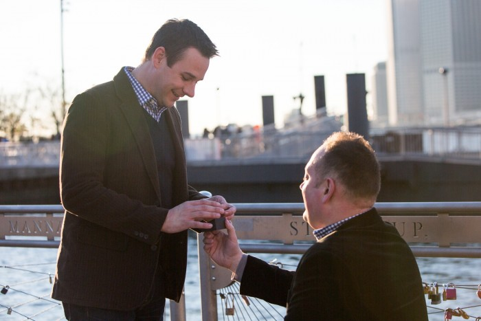 Image 9 of Aaron and Brandon's Proposal in NYC