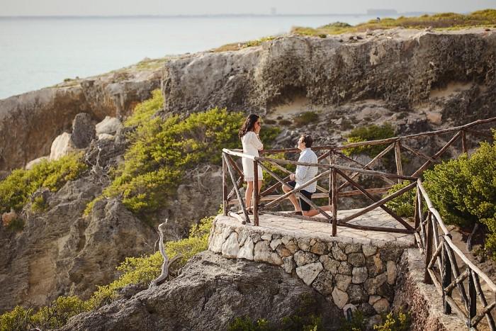 Surprise Proposal at Isla Mujeres, Mexico - Naomi + Josef