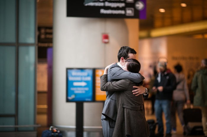 Image 7 of Nicole and James and their Super Sweet Airport Proposal