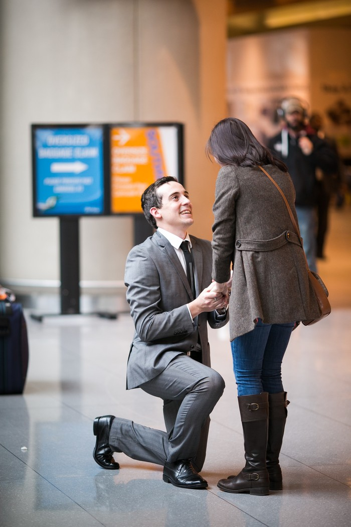 Image 8 of Nicole and James and their Super Sweet Airport Proposal