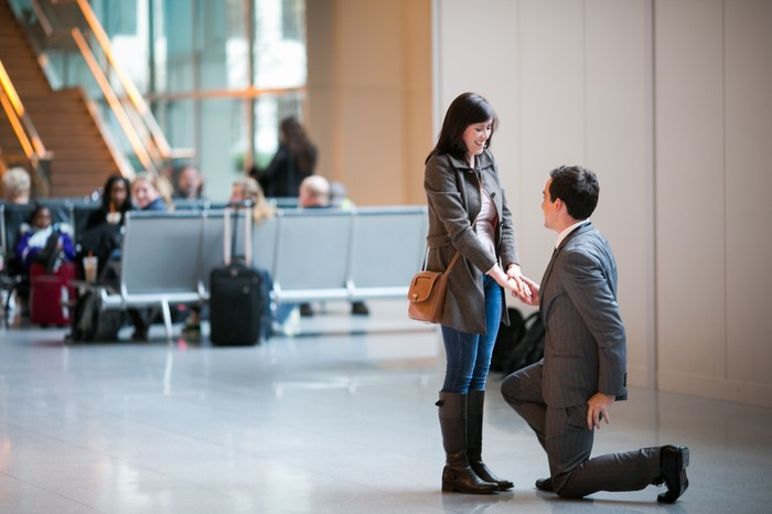 Image 5 of Nicole and James and their Super Sweet Airport Proposal