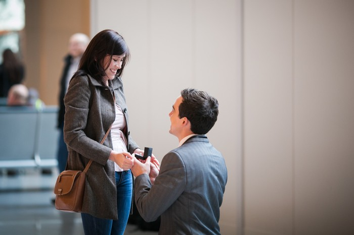 Image 4 of Nicole and James and their Super Sweet Airport Proposal
