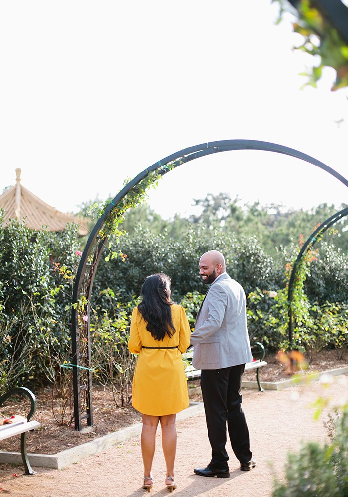 Geetha and Tony's Engagement in McGovern Centennial Gardens