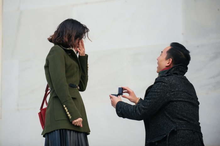 Marriage Proposal at the Lincoln Memorial