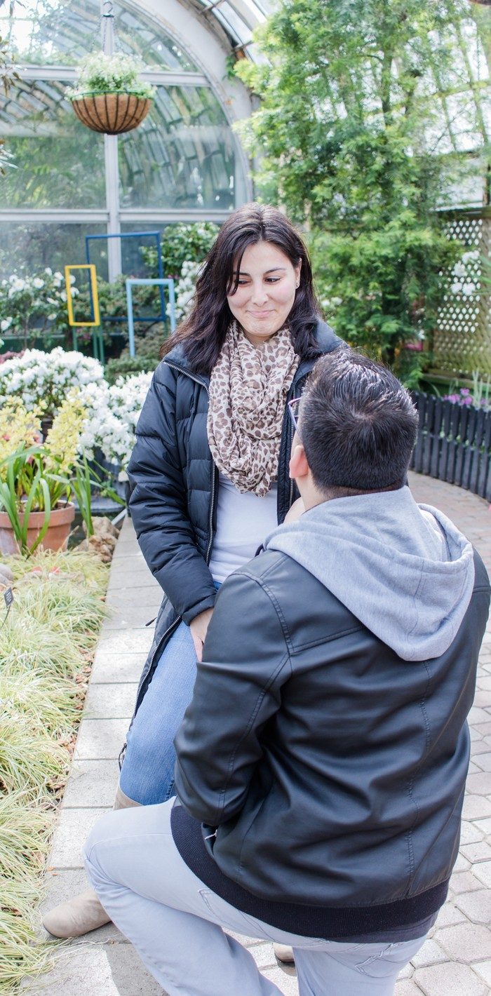 Image 7 of Andres and Paula's Proposal at the Lincoln Park Conservatory