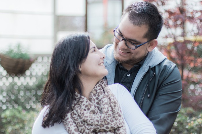 Image 9 of Andres and Paula's Proposal at the Lincoln Park Conservatory