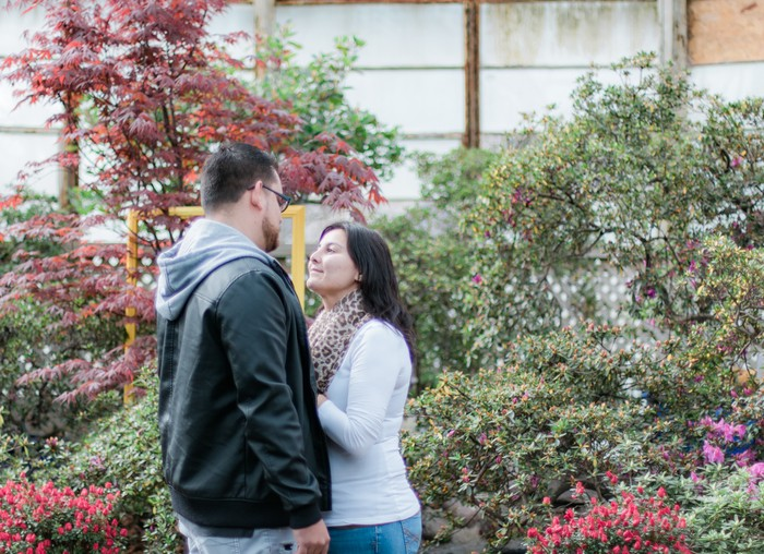 Image 4 of Andres and Paula's Proposal at the Lincoln Park Conservatory