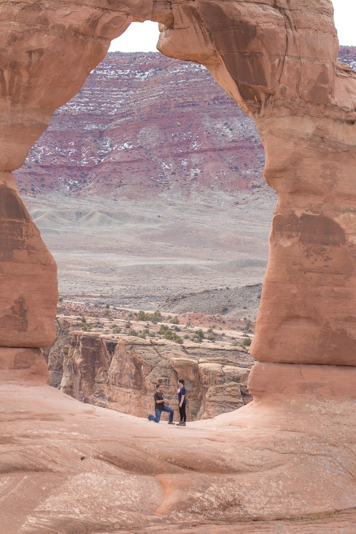 Image 4 of Brett and Kali's Proposal at Arches National Park