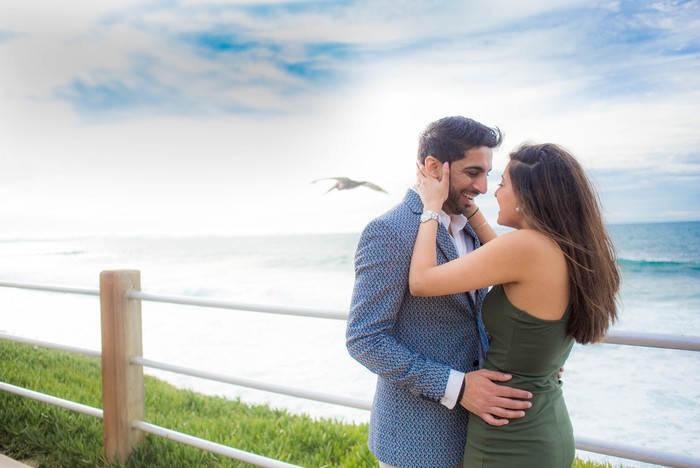 Image 1 of Khushbu and Mehul's Proposal in La Jolla