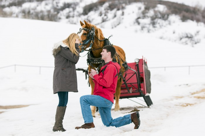 Sleigh ride holiday marriage proposal ideas