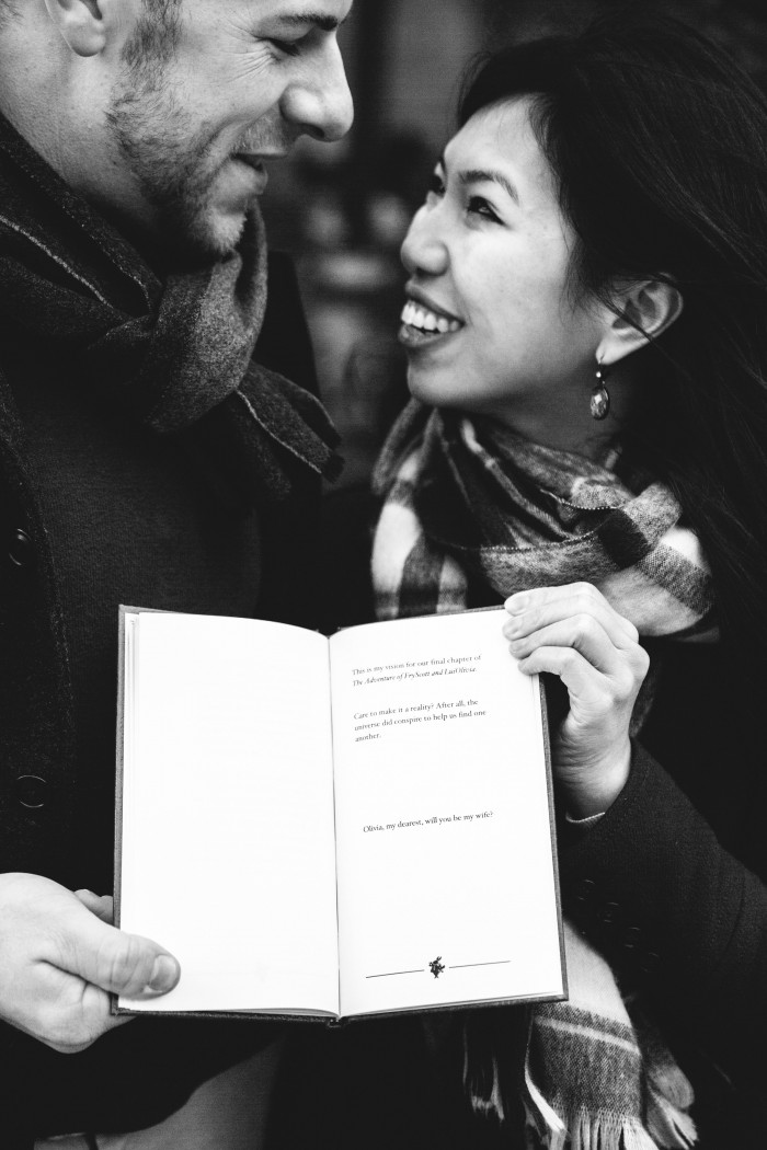 Marriage Proposal at the New York Public Library