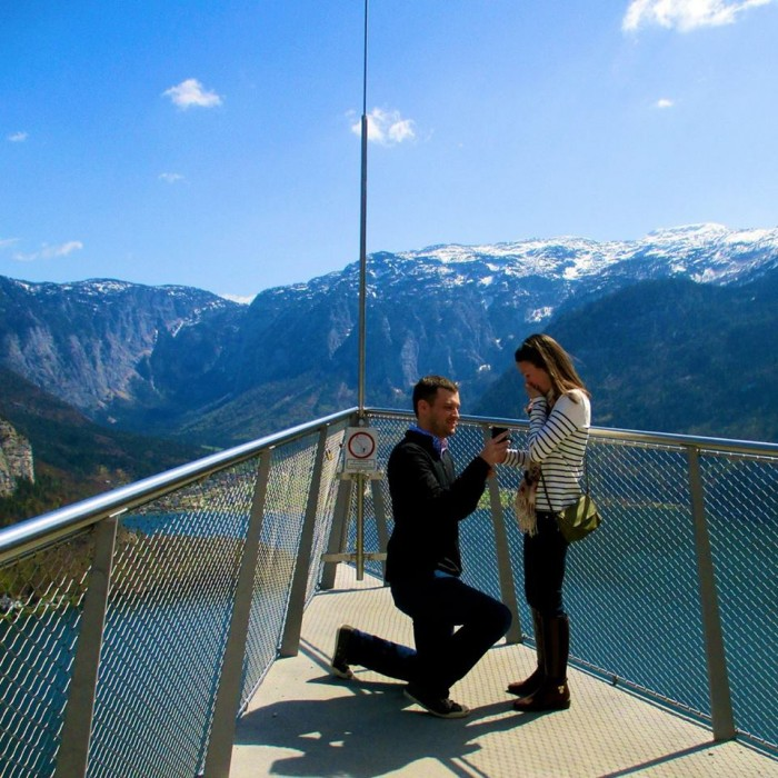 Marriage Proposal in the Middle of the Alps