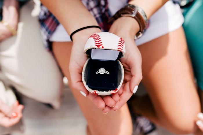 Baseball Marriage Proposal