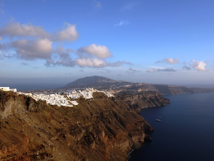 A view of the caldera in Imerovigli, Santorini
