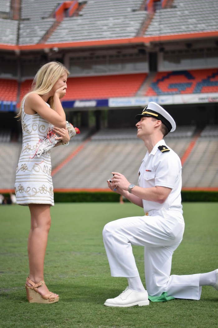 Image 8 of Samantha and Maxwell's Proposal on the UF Football Field