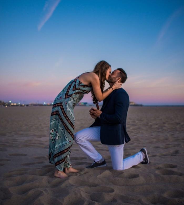 Lynsey's Proposal in Santa Monica, California - Beach