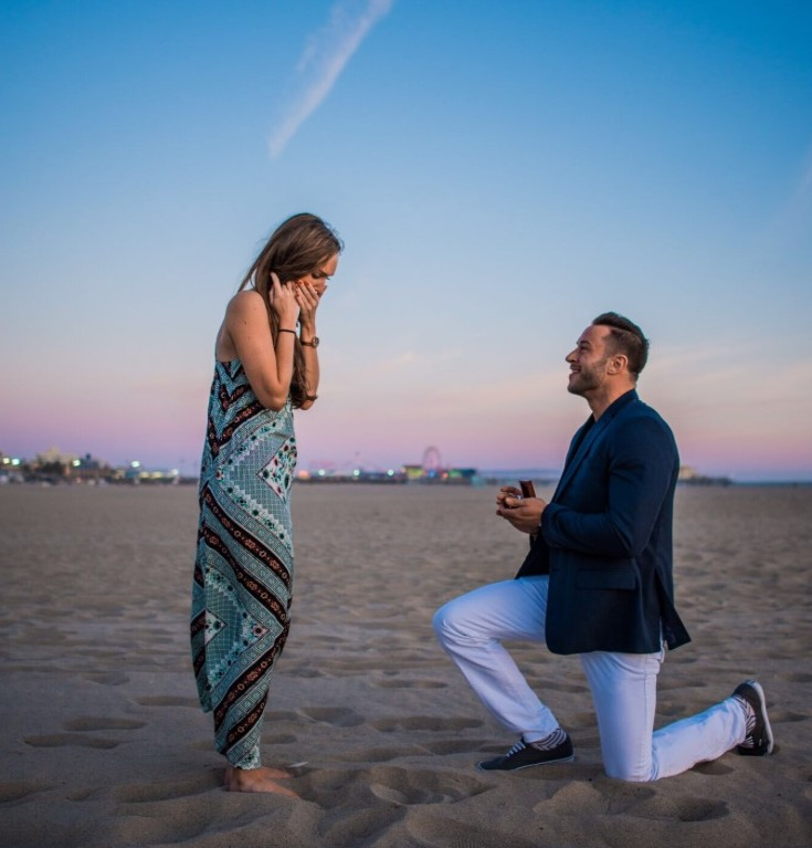 See This Beautiful Marriage Proposal In Santa Monica