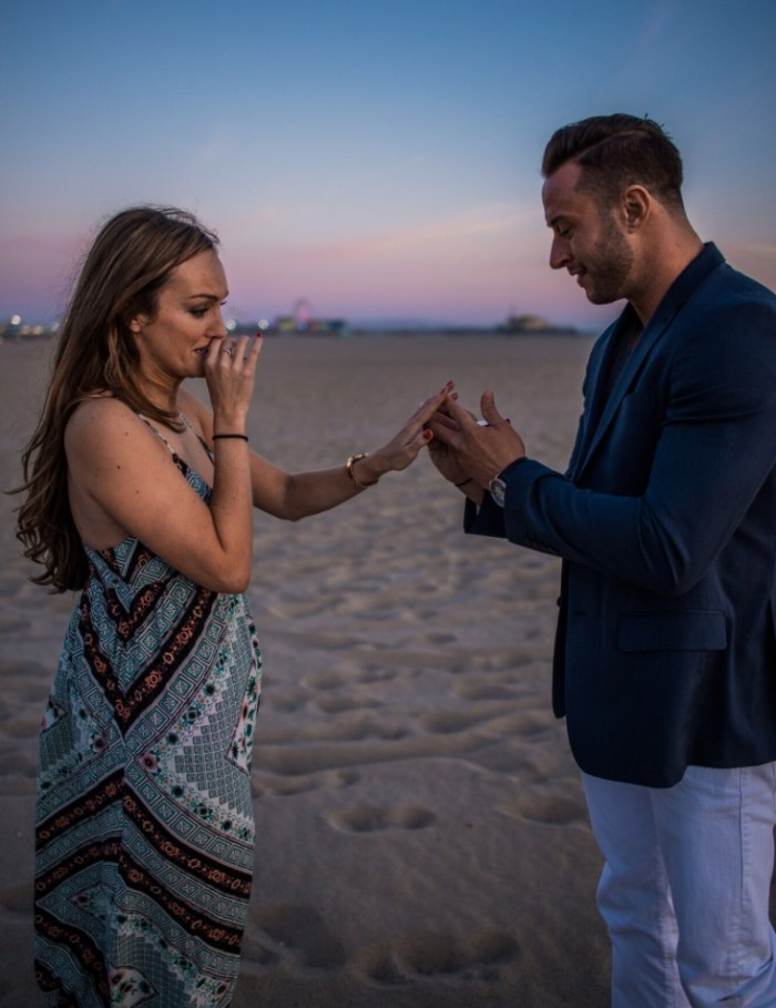 Lynsey and Christopher's Engagement in Santa Monica, California - Beach