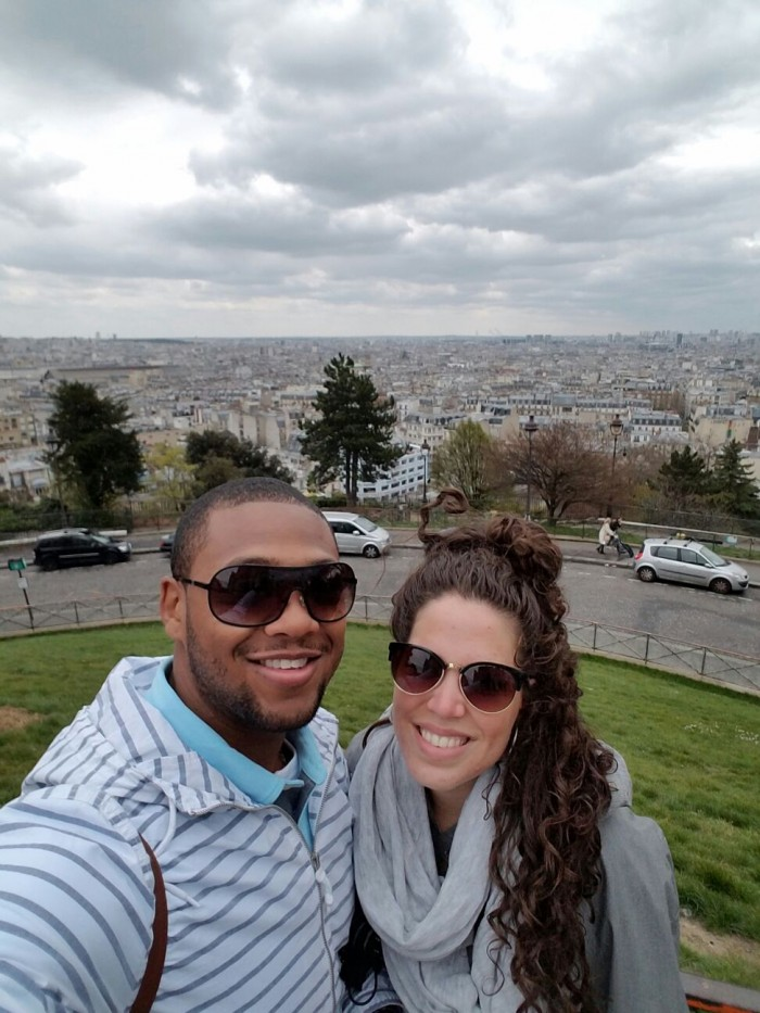 at the top of Paris