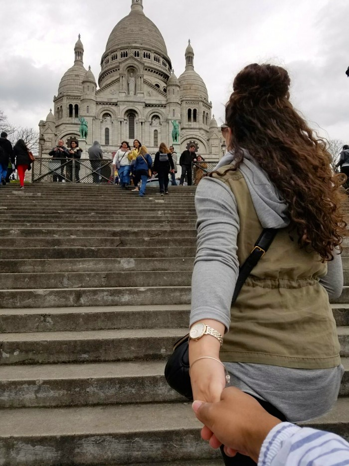Heading up to Sacre Coeur
