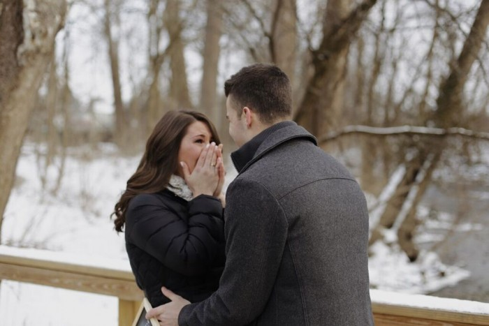 Alexa's Proposal in Creekside in Gahanna, OH